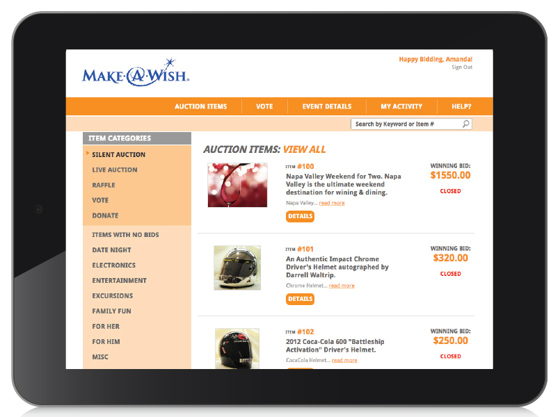 paper bidding alternatives bidding on an ipad