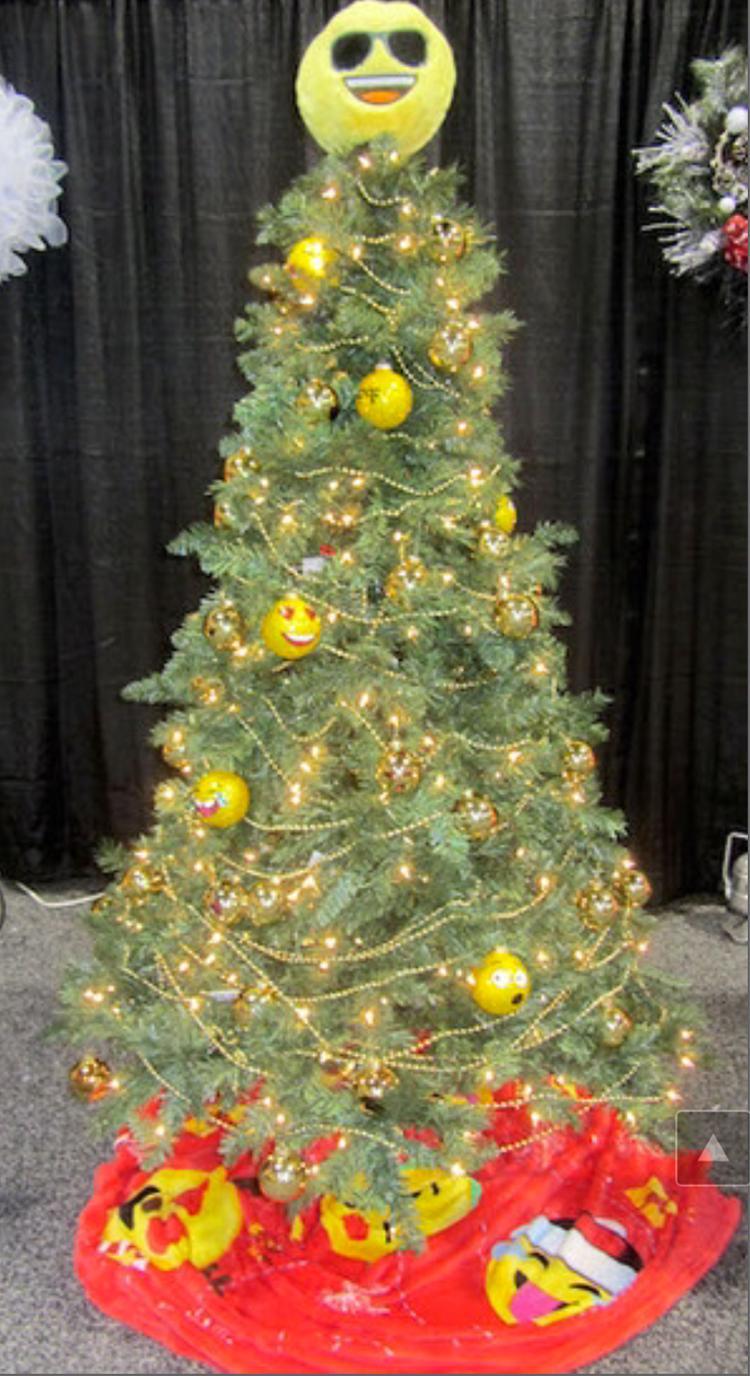 emoji christmas tree holiday auction ideas