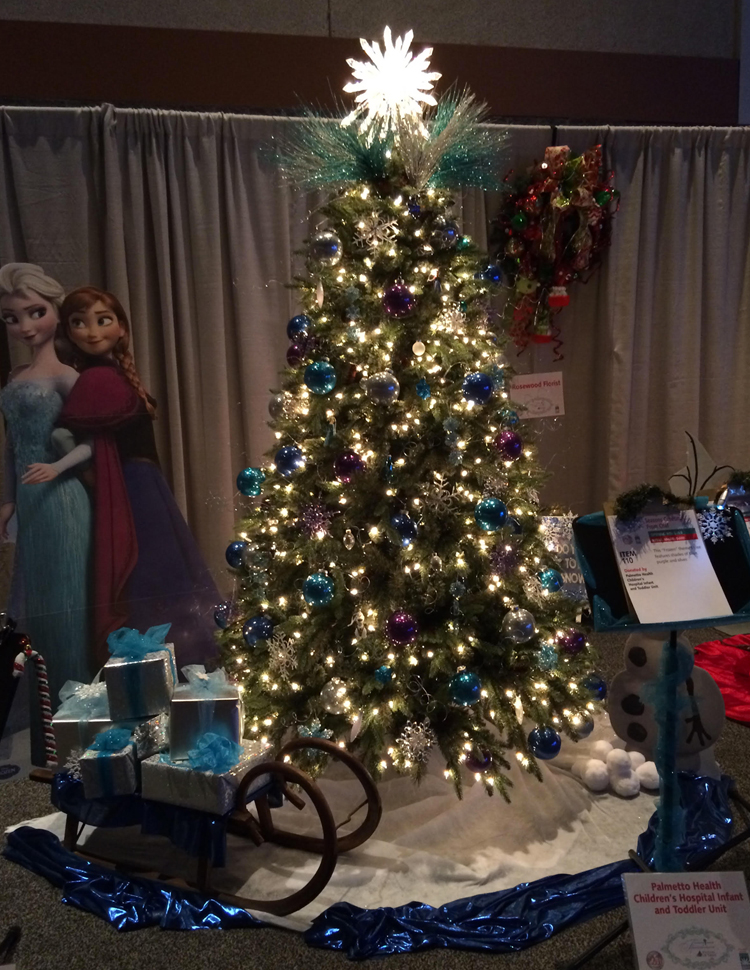 frozen christmas tree holiday auction