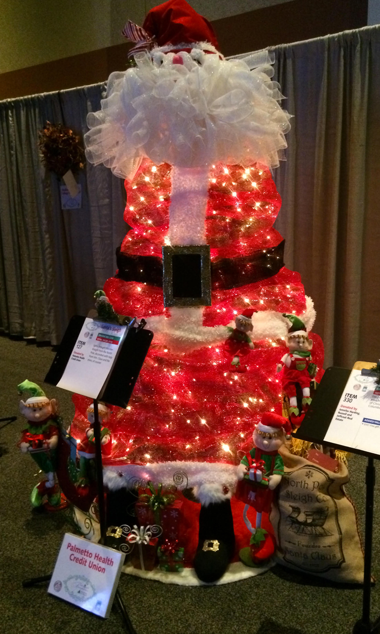 santa claus emoji christmas tree holiday auction ideas