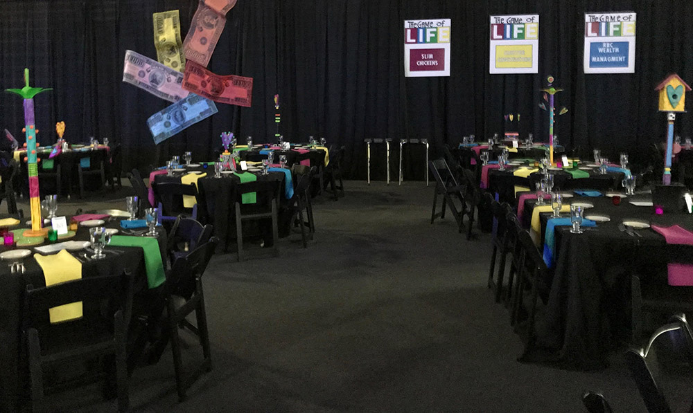 Charity Auction Game of Life Theme