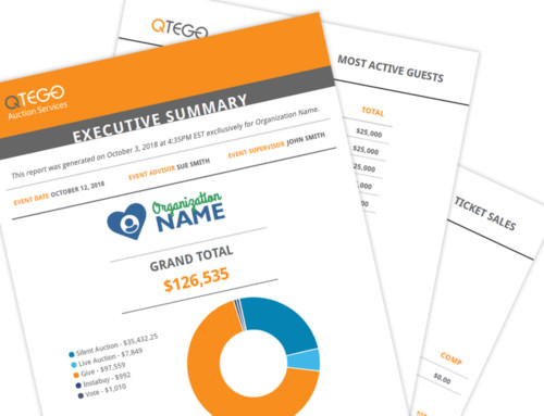 Showcase Auction Fundraising Results With Awesome Executive Reporting