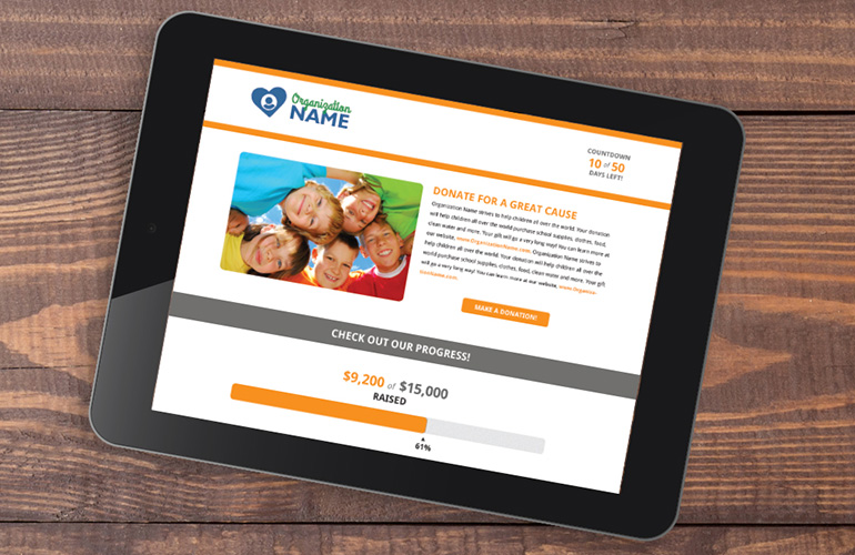 Qtego Crowdfunding Website Tablet