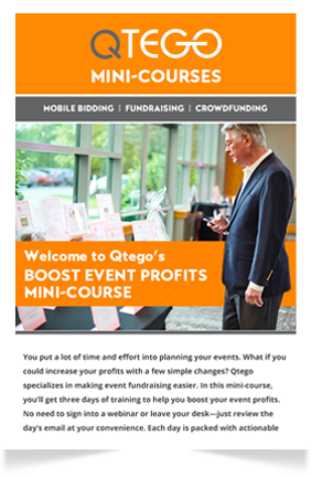 Boost Event Profits Mini Course Qtego Fundraising