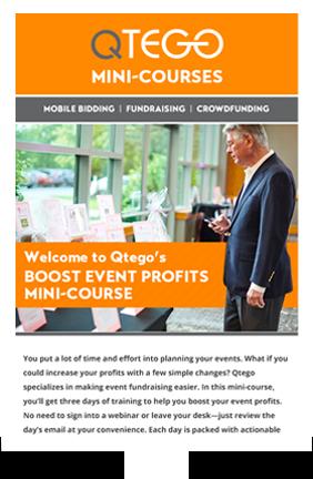Boost Event Profits Mini Course Qtego Fundraising