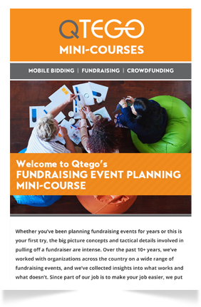 Event Planning Mini-course Qtego Fundraising
