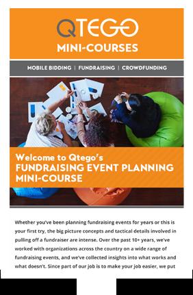 Event Planning Mini-course Qtego Fundraising